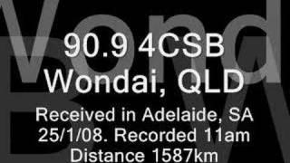 Wondai Australia  city pictures gallery : FM DX - 4CSB Wondai in Adelaide Aust. (1587km)