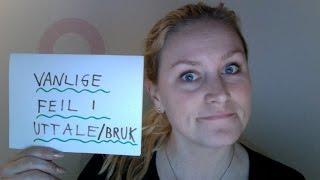 Lær norsk! 90 % sier disse ordene feil! UNIVERSITET, INGENIØR +++