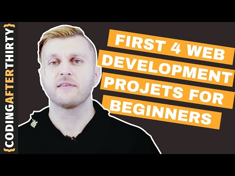 Your  First 4 Web Development Project Ideas  [how to become a web developer and what to build first]