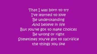 delta goodrem-bort to try (with lyrics)