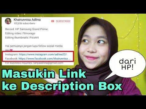Cara Masukin Link ke Deskripsi Youtube dari HP