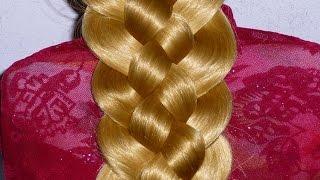 прическа на длинные волосы для новичка