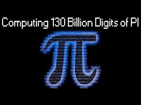 Computing PI to 130 000 000 000 decimal digits with y-cruncher..