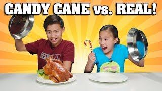 Video CANDY CANE VS. REAL FOOD CHALLENGE!!! Chicken Flavored Candy???! MP3, 3GP, MP4, WEBM, AVI, FLV Juli 2019