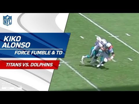 Video: Kiko Alonso Forces a Fumble & Miami Gets the Scoop & Score! | Titans vs. Dolphins | NFL Wk 5