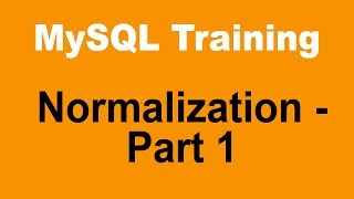 MySQL Tutorial For Beginners - Part 8 - Database Designing And Normalization - Part 1