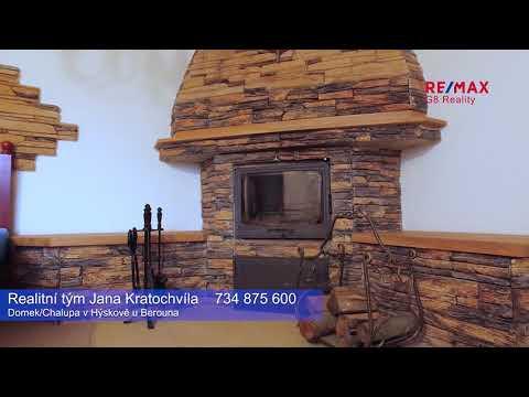 Video Chalupa/rodinný dům v Hýskově u Berouna