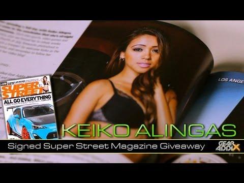 Keiko Alingas' Signed Super Street Magazine Giveaway