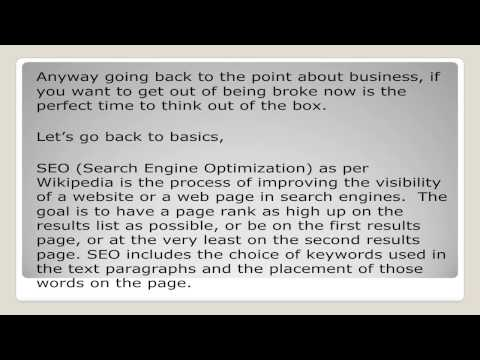 Guaranteed Search Engine Optimization Part One