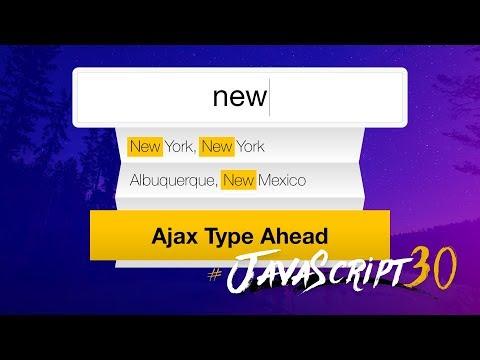 Ajax Type Ahead with fetch() - #JavaScript30 6 (видео)