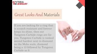 Facet Tungsten Rings -  Tribal Jewelry
