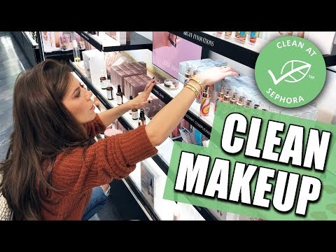 "Full Face of ""CLEAN MAKEUP"" Try-on & Wear Test"