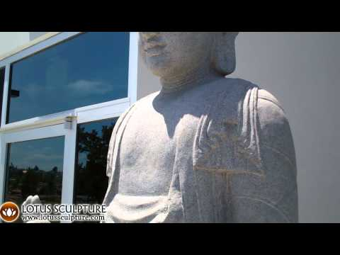 SOLD Large Stone Standing Buddha 92