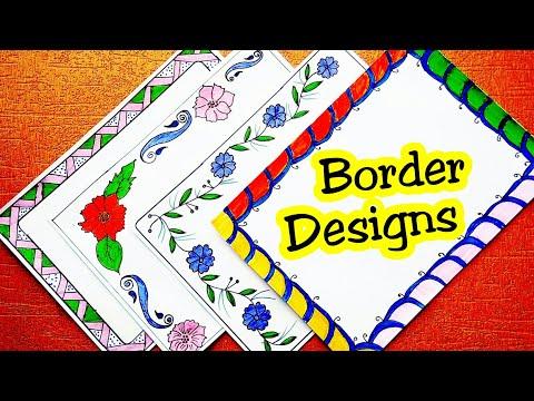Border Designs On Paper