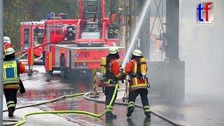 Backnang Germany  city images : Fire in a Sewage Sludge Silo / Brand im Klärschlammsilo, Klärwerk Backnang, Germany, 09.11.2015.