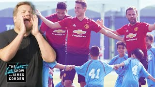 Video Manchester United vs. James Corden & 100 Kids MP3, 3GP, MP4, WEBM, AVI, FLV Juni 2019