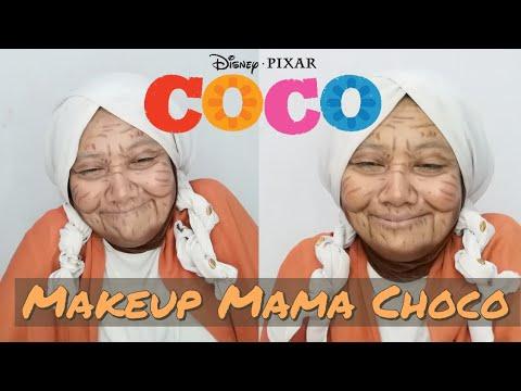 DISNEY'S COCO-MAMA COCO   Transformation Makeup JADI NENEK-NENEK