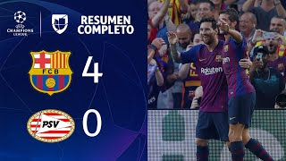 Video Barcelona 4-0 PSV - GOLES Y RESUMEN - Grupo B UEFA Champions League MP3, 3GP, MP4, WEBM, AVI, FLV September 2018