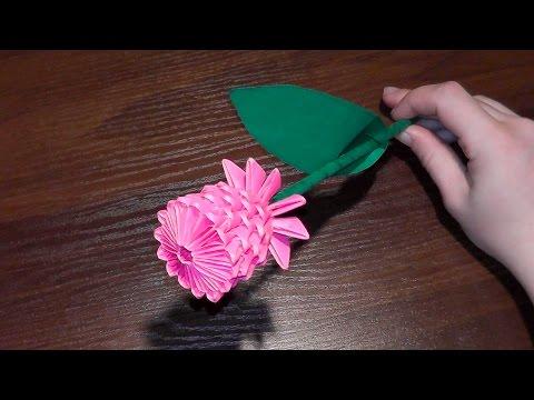 сделать цветок из белой бумаги видео