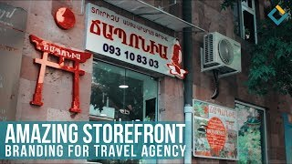 Storefront Branding Solution for travel agency
