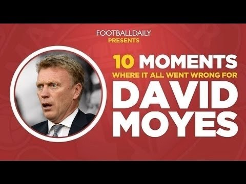 Where - With David Moyes SACKED by Manchester United today, we look back at the 10 moments that cost the former Everton manager his job. Subscribe: http://bit.ly/12g...