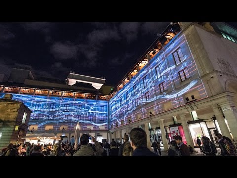 Watch: Royal Opera House transformed into spectacular piece of visual art for Deloitte Ignite 15