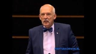 Czy Polacy mają strzelać do imigrantów?! Korwin kolejny raz zaorał w Parlamencie Europejskim