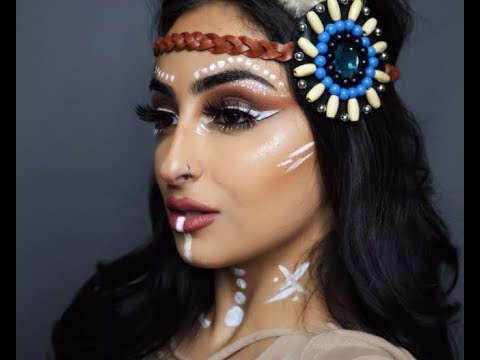 Video Easy Tribal Halloween Makeup | Burrtasbeauty ميكب هالويين هنود الحمر مع بيرتا download in MP3, 3GP, MP4, WEBM, AVI, FLV January 2017