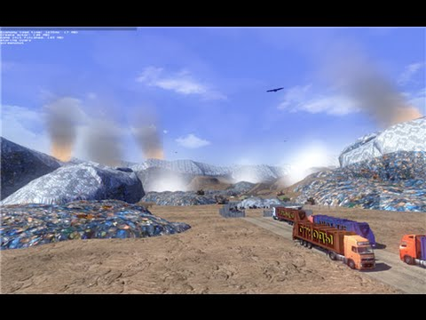 Landfill with delivery of goods + Trailer