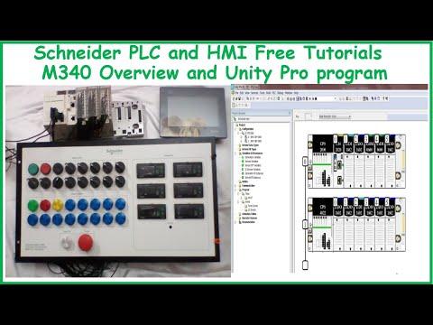 3-Schneider PLC Free Tutorials - PLC M340 Hardware Configuration & Unity Pro program