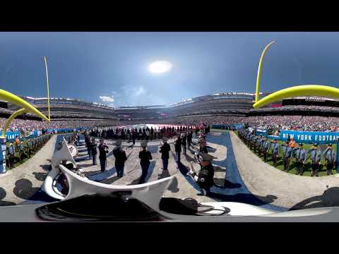 The National Anthem at the NY Giants Home Opener in 360