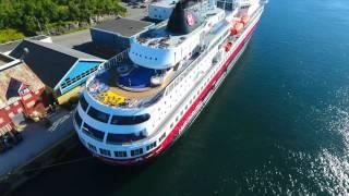 Bronnoysund Norway  city photos gallery : MS Finnmarken Brønnøysund Norway 17.08.2016 Hurtigruten Drone