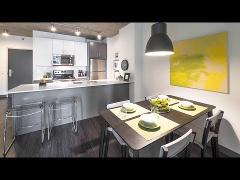 An 06-tier 1-bedroom model at the Loop's new Linea apartments