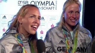 Olympia 2016 - Rio: Gold für den Frauen-Doppelvierer im Rudern.