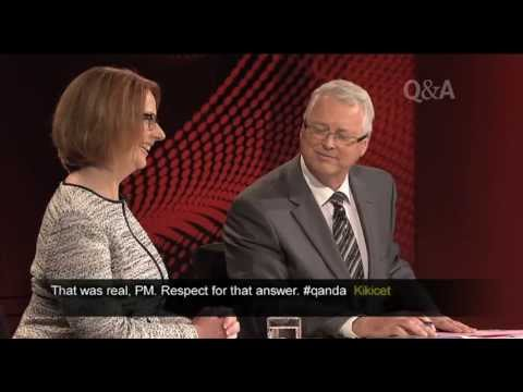 Julia Gillard - 06/05/2013 Prime Minister Julia Gillard joined ABC's Q&A to answers questions posed by a very special audience of high school students.