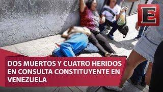 Dos personas perdieron la vida y cuatro resultaron heridas de gravedad en el oeste de Caracas después de que un grupo de hombres armados disparara durante la celebración de la consulta opositora contra el proceso Constituyente activado por el gobierno.16 de julio 2017COMENTA ESTE VIDEO Y COMPARTELO CON TUS AMIGOSPara más información entra: http://www.youtube.com/excelsiortvNo olvides dejarnos tus comentarios y visitarnos enFacebook: https://www.facebook.com/ExcelsiorMexTwitter: https://twitter.com/Excelsior_MexSitio: http://www.excelsior.com.mx/tvSuscríbete a nuestro canal: https://www.youtube.com/channel/UClqo4ZAAZ01HQdCTlovCgkA