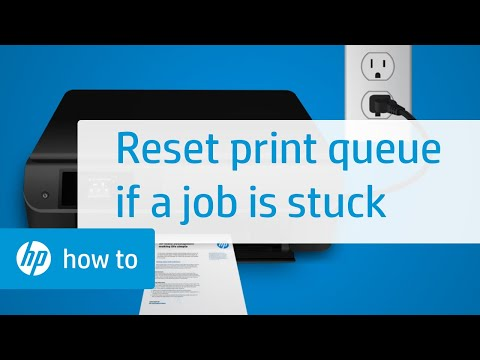 Resetting the Printing System When Your Print Job is Stuck in the Windows Print Queue