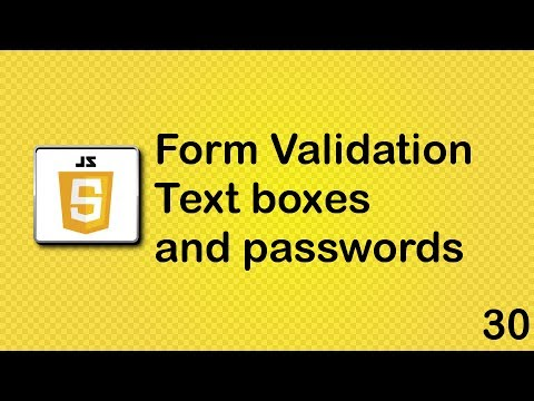 Form validation text boxes and passwords JavaScript