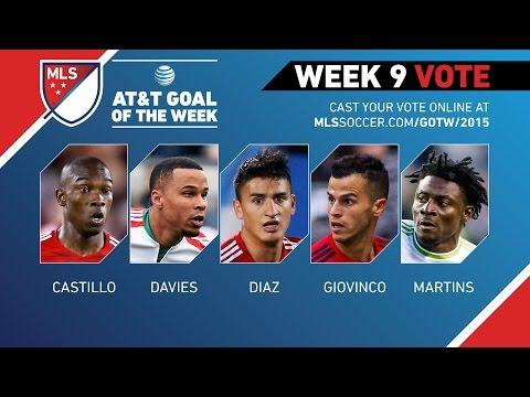 Video: 2015 AT&T Goal of the Week Nominees: Week 9