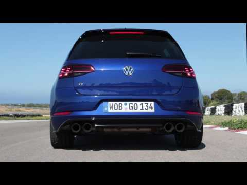 VW Golf R Performance With Akrapovic Exhaust: Revving And Launch Control