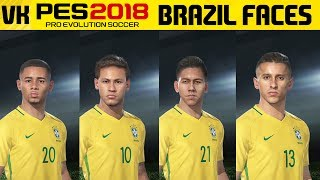 Here is a video showcasing the Brazil player faces from the PES 2018 Online Beta. Special thanks to https://twitter.com/onlyproevo for showing me the trick to get player facesWelcome to the #1 Place for Player Faces on Youtube! Subscribe for FIFA 18 and PES 2018 news and player faces videos: 🔴  Subscribe to the channel here: https://goo.gl/AaHRHe .✅  Join the Vapex Club for exclusive newsletters and 2 Private videos (FIFA 18 player face suggestions and PES 2017 Mods): http://eepurl.com/cO1skn✅  Help keep this channel going!https://www.patreon.com/VapexKarma---------------------------------------------------------Available September 29, 2017. FIFA 18 is fueled by Cristiano Ronaldo, all-time top scorer of Real Madrid C.F. and winner of the Best FIFA Men's Player Award.Pre-Order the Ronaldo Edition and get 3 Days Early Access: http://smarturl.it/qoctk5Powered by Frostbite, FIFA 18 blurs the line between the virtual and real worlds, bringing to life the heroes, teams, and atmospheres of the world's game. --------------------------------------------------------PES 18 (PES 2018) is scheduled to be released on the 14th of September.Pre-order now to receive exclusive content:• 2x Premium Partner Agents for myClub• UCL Agent for myClub• Exclusive Agent for myClubYou will also receive bonus myClub content:• 4x Start Up Agents• 1x Partner Club Agent• 10,000 GP x 10 weeksPES 2018 new features:• Gameplay Masterclass – Strategic Dribbling, Real Touch+ and new set pieces take the unrivalled gameplay to the next level• Presentation Overhaul – New menus and real player images• PES League Integration – Compete with PES League in new modes including myClub• Online Co-op -A mode dedicated to co-op play is newly added• Random Selection Match – Fan favourite returns with new presentation and features• Master League Upgrade – New pre-season tournaments, improved transfer system, presentations and functionality • Enhanced Visual Reality – New lighting, reworked player models and animations covering everything from facial expressions to body movement to bring the game to life----------------------------------------------------------► Subscribe to my Other Channel https://www.youtube.com/channel/UC-OlFXbaW43YlKqfVy1Tp6g►2nd Channel featuring non player faces content (uploads occasionally): https://www.youtube.com/channel/UCjXed8aFG8cxnYm0iNQraWg?tbft=1►If you would like to Donate (just like Twitch) to support my content :  https://streamtip.com/y/vapexkarma--------------------------------------------------------► Twitter: @vapexkarma ► Facebook: @vapexkarma► Instagram: @vapexkarma► Podcast: anchor.fm/vapexkarma----------------------------------------------------------► My Best videos: https://www.youtube.com/playlist?list=PLeVkMvUsXzoEdcbKCQIIUxwTNvppKYBQo► PES 2017: Inter Milan Master League: https://www.youtube.com/playlist?list=PLeVkMvUsXzoHZBuaHdW8ieM1ROA3xD6p9► FIFA 17 vs PES 17 Player Face Comparisons: https://www.youtube.com/playlist?list=PLeVkMvUsXzoFjICBaqUzkwoDYbuLribm4----------------------------------------------------------FIFA 17 is a sports video game made by EA Sports released on the 27th of September 2016 in America and 29th September 2016 worldwide. It uses the Frostbite engine and Marco Reus is the official cover star. Available on PS4, PS3, Xbox One s, Xbox one, Xbox 360 and PC.----------------------------------------------------------Pro Evolution Soccer or PES 2017 (also known as Winning Eleven 2017 in asia) is a sports video game made by Konami for Microsoft Windows, PlayStation 3, PlayStation 4, Xbox 360 and Xbox One. The game is the 16th installment in the Pro Evolution Soccer series. It was released in September 2016 and will be compatible with PS4 Pro console. Partner clubs include Barcelona, Liverpool, Borussia Dortmund and River Plate which means they have the official stadiums and kits as well as player names.Features include improved passing, Real Touch ball control, and improved goal tending technique. The cover of the game has Neymar, Messi, Suárez, Rakitić and Piqué.Game features include adaptive AI, edit and data sharing (through option files) and Match analysis.----------------------------------------------------------------------------------Production Music courtesy of Epidemic Sound: http://www.epidemicsound.com----------------------------------------------------------------------------------#PES2018 #FIFA18 #vapexkarma #playerfaces #PES2017 #FIFA17