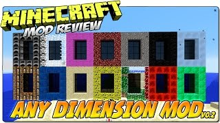 ANY DIMENSION MOD MINECRAFT 1.7.10   ¡Versión 0.2 con más dimensiones!   REVIEW ESPAÑOL