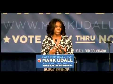 """fifth - Michelle Obama Falsely Claims Mark Udall Is A """"Fifth-Generation Coloradan"""" (October 23, 2014)"""