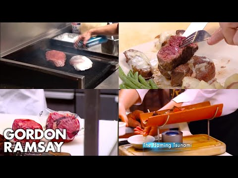 Gordon Ramsay Being Served The Worst Steaks On Kitchen Nightmares