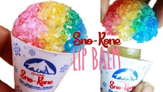 DIY Sno-Cone Lip Gloss - How To Make Peppermint Lip Balm - Resin Tutorial - YouTube