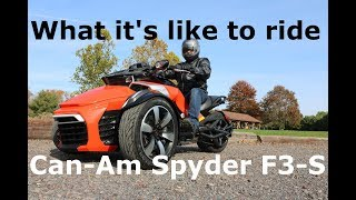 5. Spyder F3-S Owner's Review. | Everything you need to know about Can-am Spyder