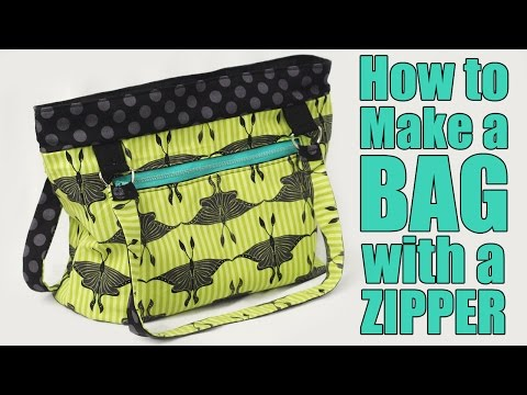How To Make A Bag Or Purse With A Zipper - Sewing Tutorial