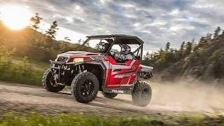 4. 2018 Polaris® General™ 1000 EPS Ride Command™ Edition Matte Sunset Red For Sale at Carbondale, IL