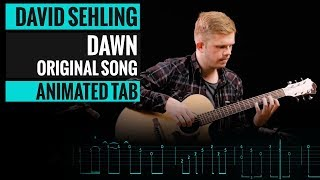 DAVID SEHLING - DAWN - Guitar Lesson - Animated Tab - How to Play
