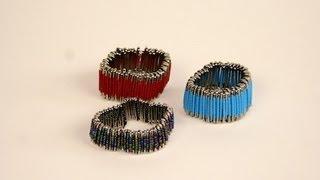 DIY: Safety Pin Bracelet   ShowMeCute - YouTube